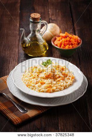Pumpkin Risotto , halloween dish