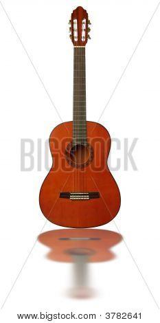 Guitarra con reflexión