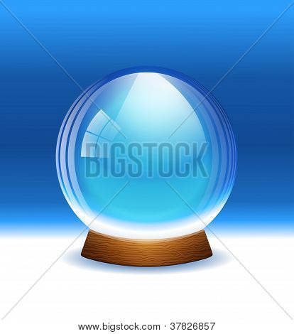 Vector empty transparent snow globe