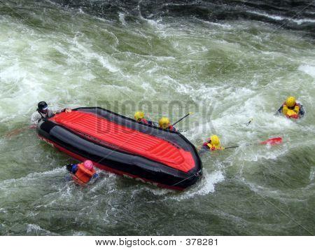 Flipping A Raft On The Lochsa River, Idaho