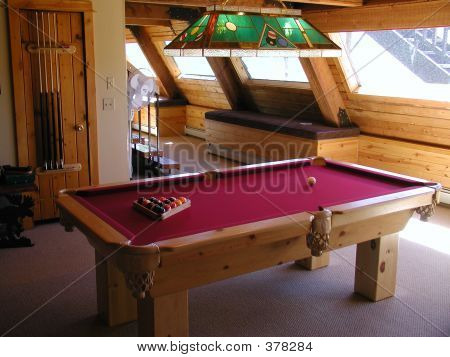 Pool Table In A House