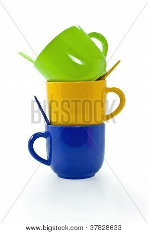 Colorful Plastic Coffee Cup