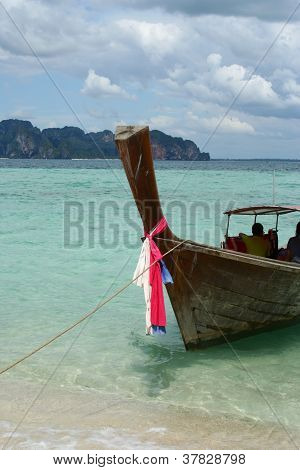 Thai Long Tail Boat, Thai Beach