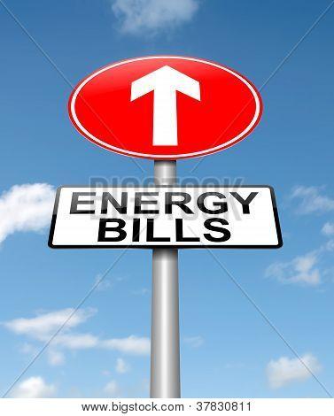 Concepto de las facturas de energía.