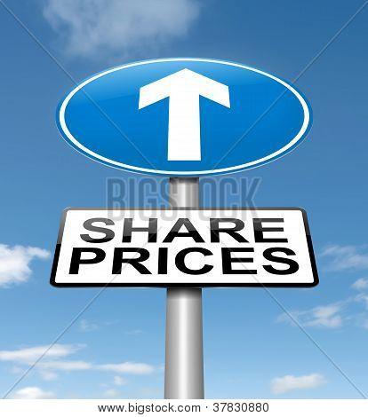 Share Price Increase.