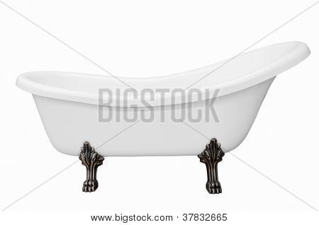 Classic White Bathtub With Legs