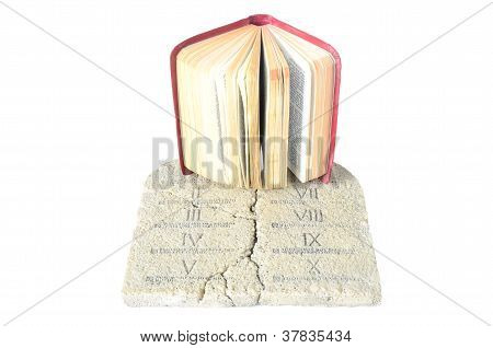 Bible And Tablets Of Law