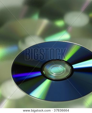 Dvd In Blurred Background