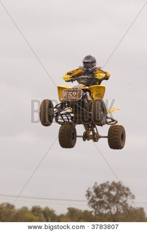 Atv Motocross Rider Jumping