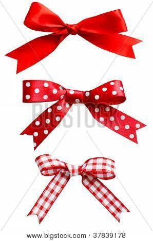 Isolated Red Bows