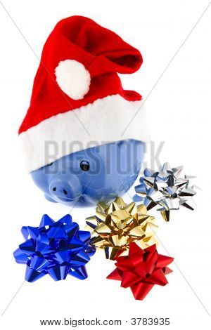 Christmas Cap With Piggy Bank