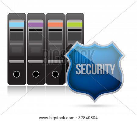 Secure Server Shield Illustration Design