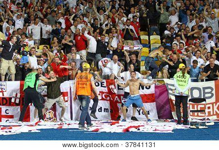 England Fans Celebrate After Scoring Against Sweden