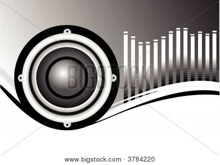 Black And White Musical Speakers Background