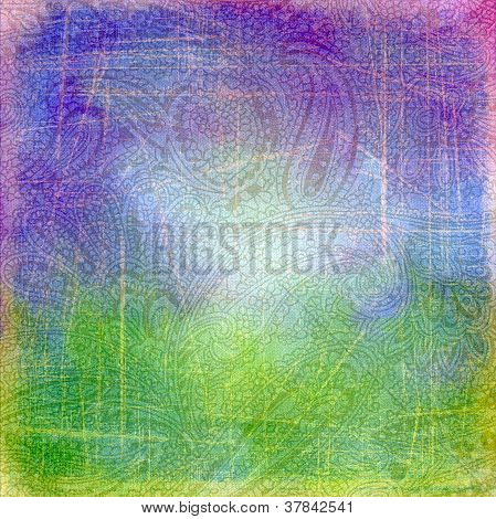 Abstract Background Indian Pattern Cucumber.