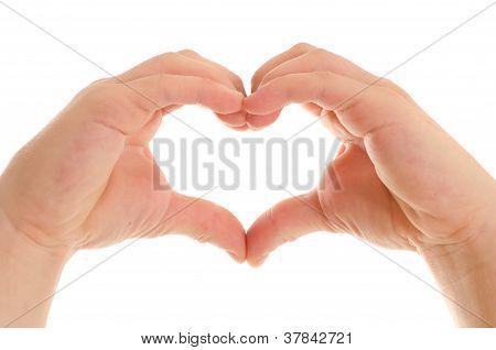 Children's hands show signs of heart