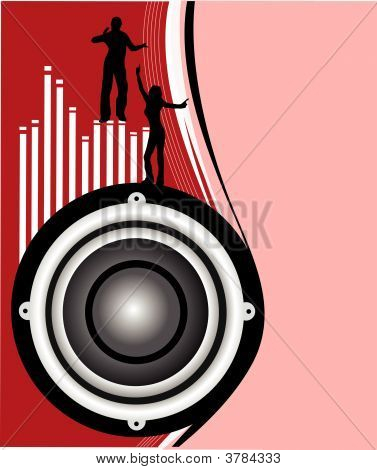 Musical Speakers Illustration