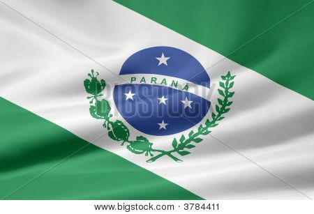 Flag Of Parana Brasil