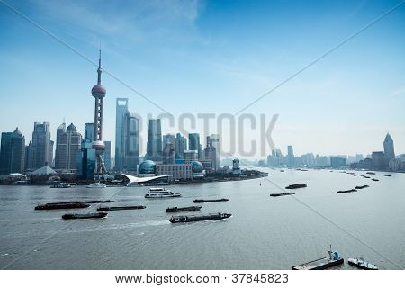 Shanghai Pudong And The Huangpu River