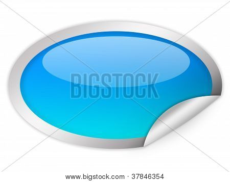 Oval glass icon