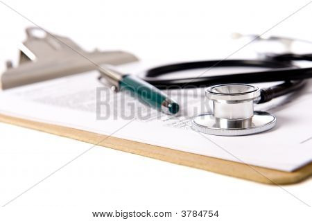 Stethoscope On Clipboard