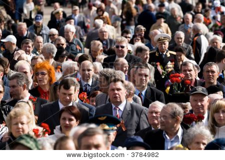 Celebration Of Victory Day In Riga