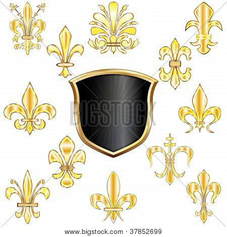 Fleur-de-lis And Shield