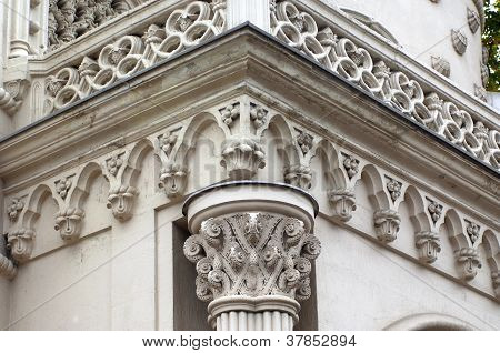 Architecture Detail On Old Building