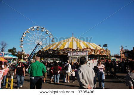 Autumn Fair Scene