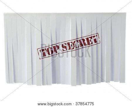 Recycled Paper With Top Secret Sign