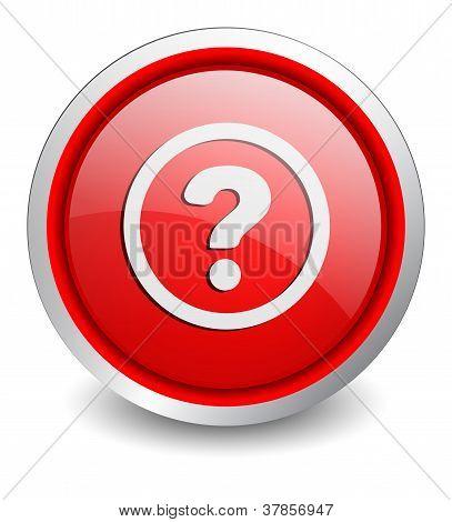Help red button - design web icon