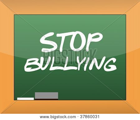 Stop Bullying Text Written On A Blackboard