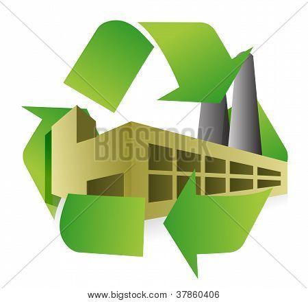 Reciclar Design ilustração de fábrica
