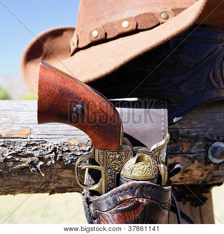 Gun And Hat