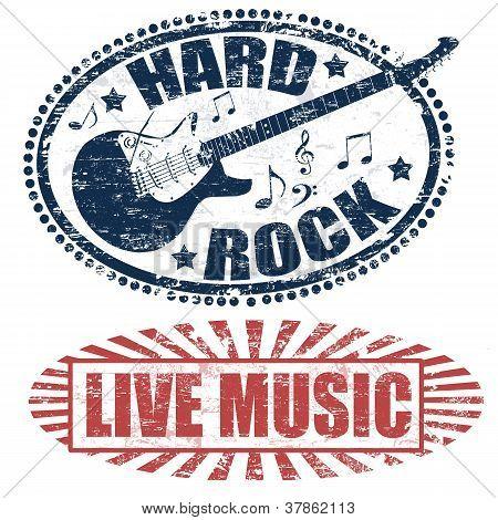 Música en vivo y sellos de Hard Rock