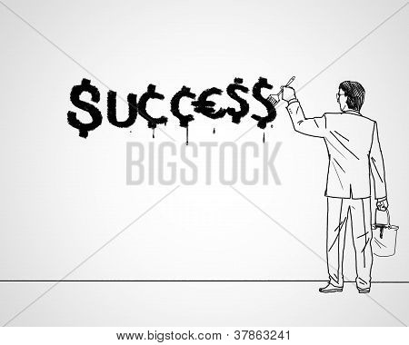 Drawing about success in business