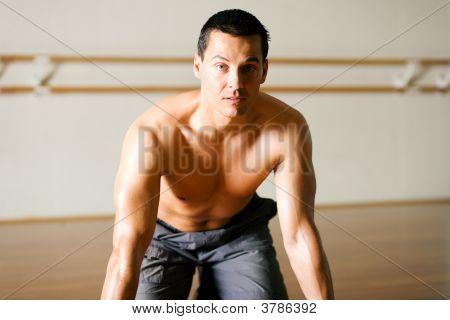 Kneeling In Gym