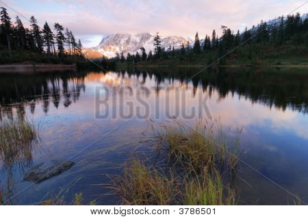 Sunset Over Mt Shuksan