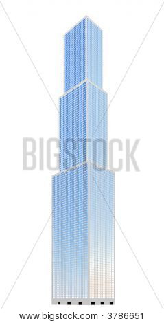 Skyscraper Over White