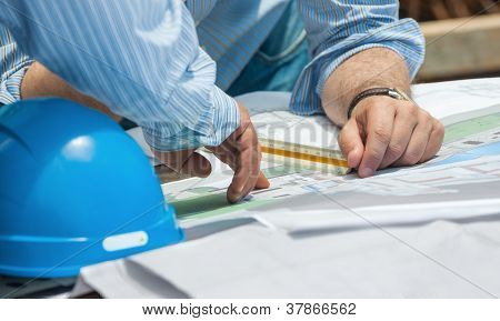 Discussing Construction Plans