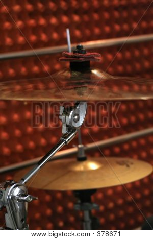 Two Cymbals During The Rehearsal