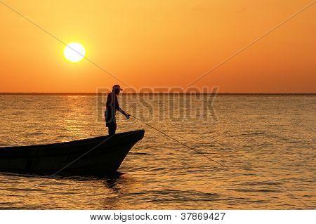 Beautiful Sunset in Yucatan