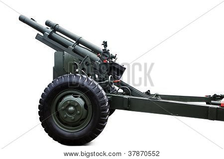 Military Weapon Vehicle Isolated In White