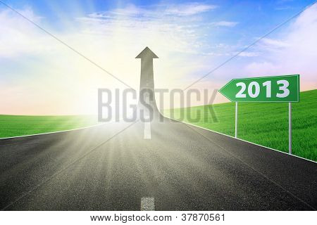 Road Sign 2013 Background