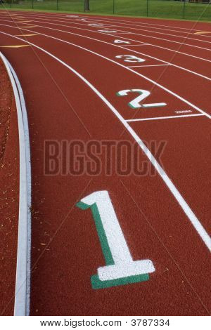 Running Tracks Abstract With  Lane Numbers