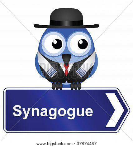 Synagogue sign