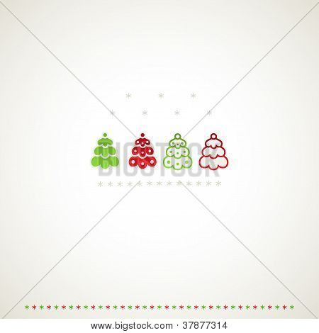 Fir-trees Background.