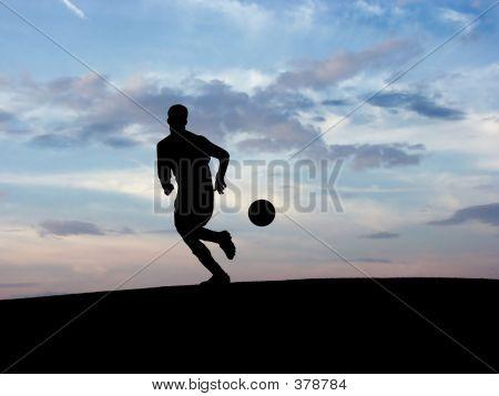 Soccer Silhouette 1