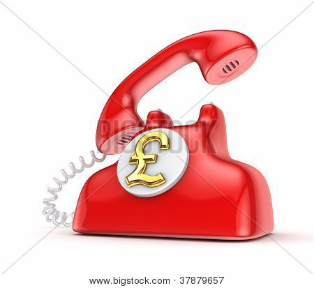Vintage telephone with golden dollar sign.