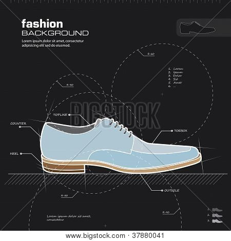 Man Shoes Design. Vector.